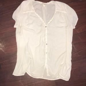 H&M White Button Up Blouse